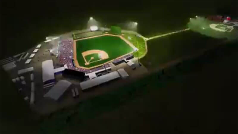 Post Photo for What the stadium will look like at the Field of Dreams site..