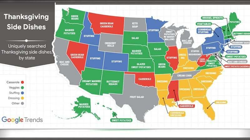 Post Photo for Popular Thanksgiving Side Dishes By State