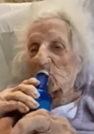 Post Photo for 103 Year Old Woman Celebrates With Bud Light