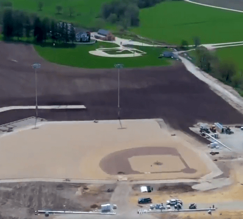 Post Photo for Field of Dreams Site Getting Ready For MLB