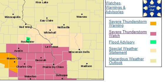 Post Photo for Severe Thunderstorm Watch Until 7PM
