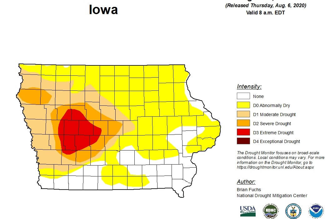 Post Photo for Drought conditions get worse across Iowa