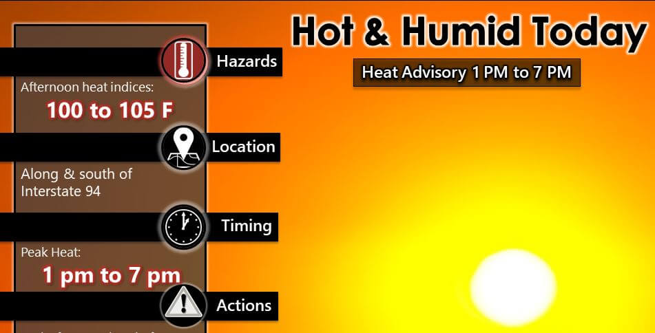 Post Photo for Another Heat Advisory Today