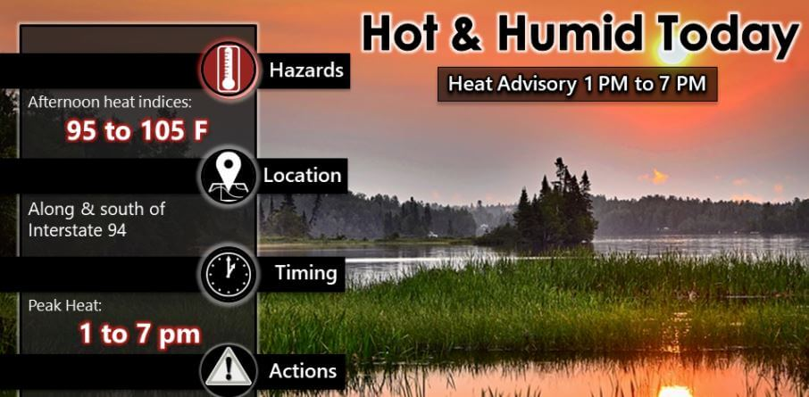 Post Photo for Wednesday Heat Advisory