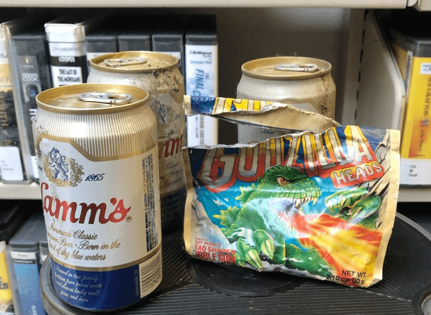 Post Photo for Public library finds 30-year-old beer and gum on the shelf