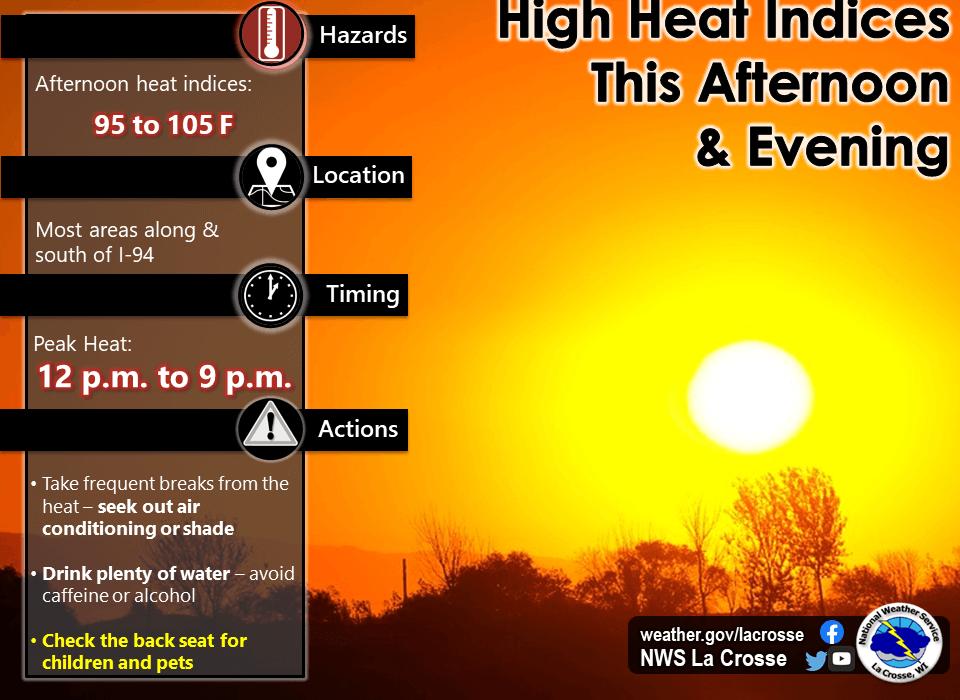 Post Photo for Heat Advisory Today