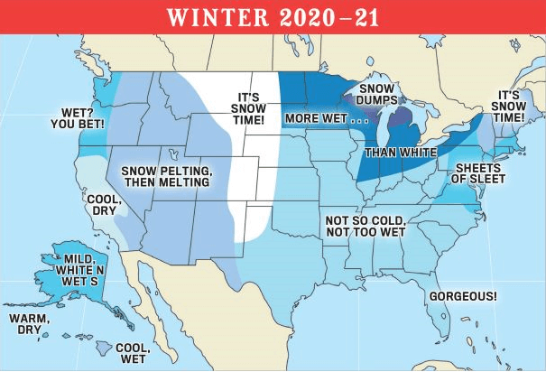 Post Photo for 2021 Old Farmer's Almanac Winter Forecast