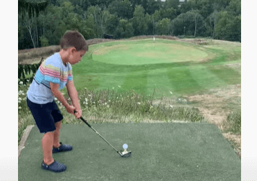 "Post Photo for Video: Kid Hits ""Hole in One"""