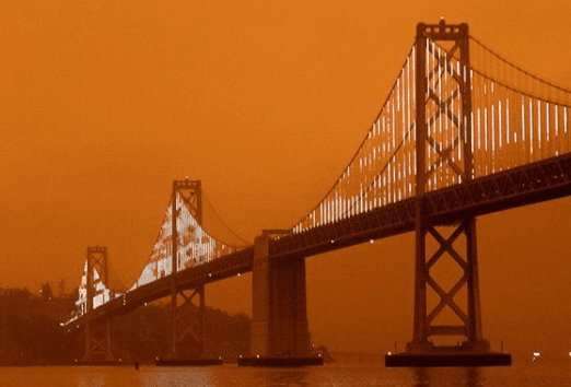 Post Photo for Wildfires turn the sky over San Francisco an eerie orange
