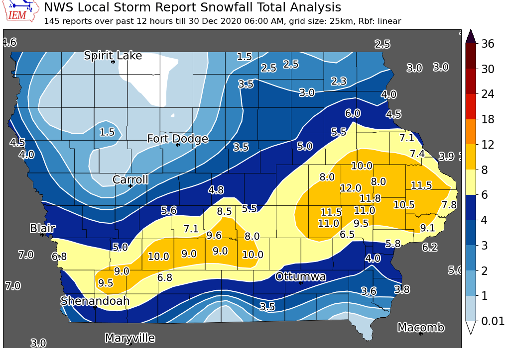 Post Photo for Early Snow Totals