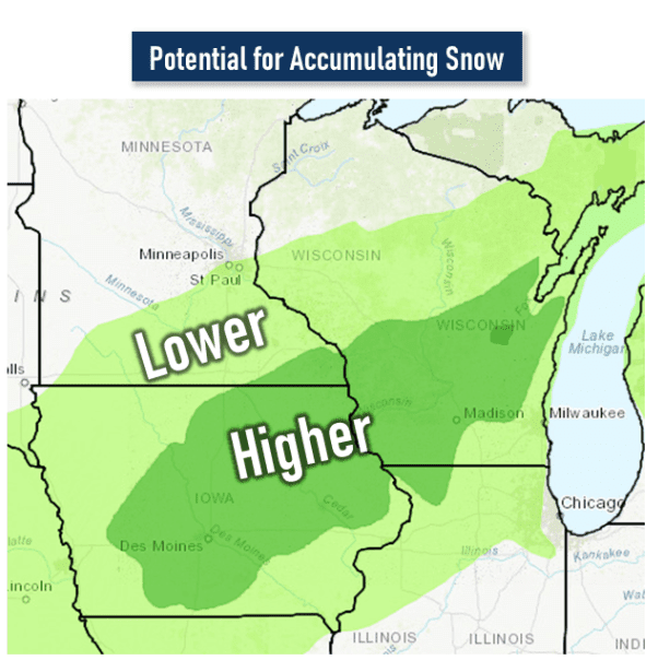 Post Photo for Snow Possible Late Friday Into Saturday