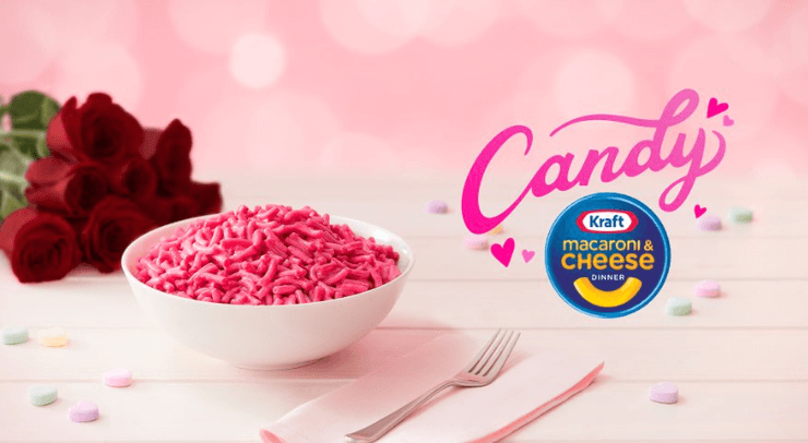 Post Photo for Kraft Is Making Pink Candy-Flavored Mac and Cheese for Valentine's Day
