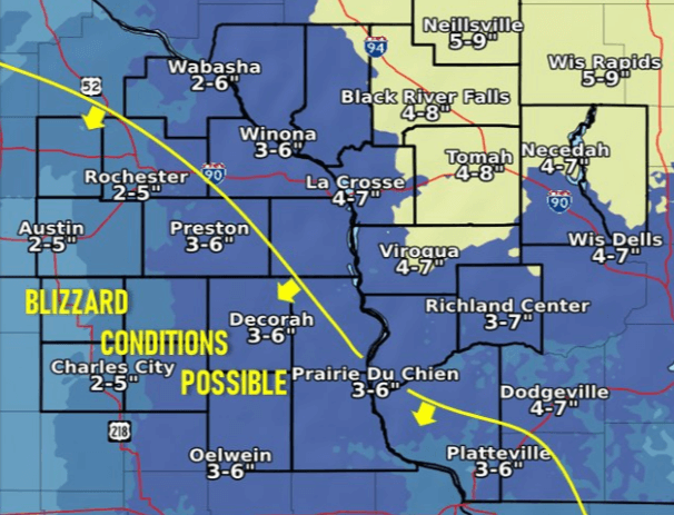 Post Photo for Possible Blizzard Conditions Thursday