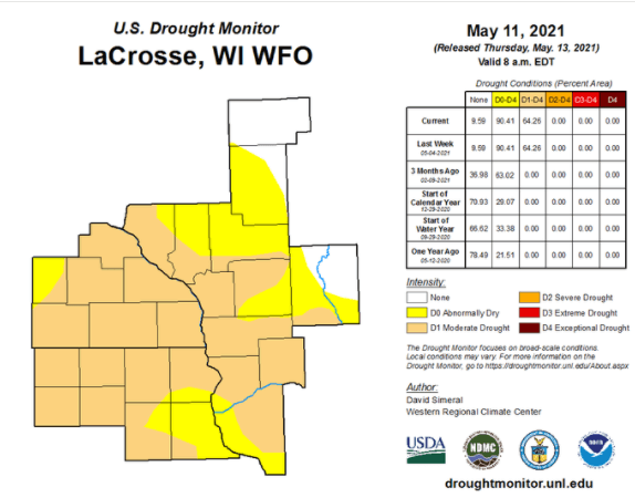 Post Photo for Latest Drought Report From NWS La Crosse