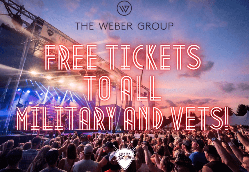 Post Photo for Country Boom offering free tickets to all members of the armed forces