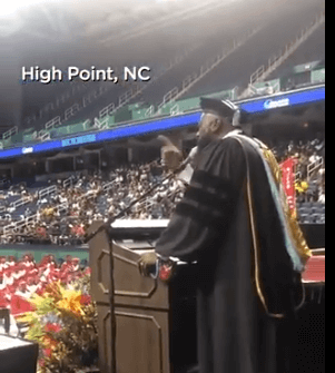 """Post Photo for Principal Surprises Graduates with A Capella of """"I Will Always Love You"""""""