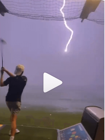 Post Photo for An Inflight Golf Ball Was Struck by Lightning at Topgolf