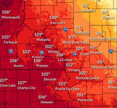 Post Photo for Heat Advisory Today & Storms Possible Tonight