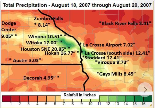 Post Photo for Historic Rainfall and Flooding of August 18-20, 2007